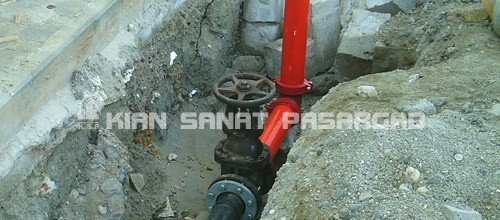 Supply and installation of HDPE Pipes for fire fighting - کاربرد لوله پلی اتیلن در سیستم آتش نشانی